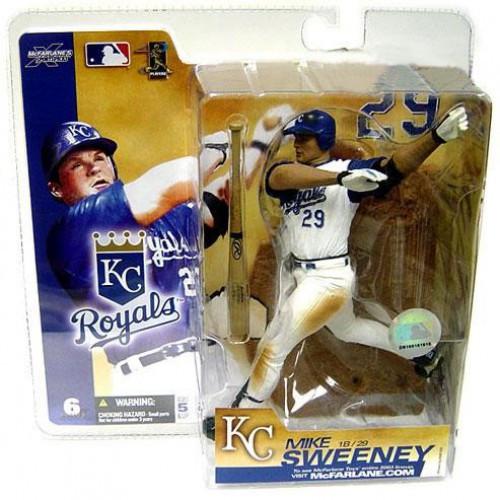 McFarlane Toys MLB Kansas City Royals Sports Picks Series 6 Mike Sweeney Action Figure [White Jersey Variant]