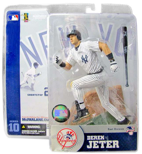McFarlane Toys MLB New York Yankees Sports Picks Series 10 Derek Jeter Action Figure [White Pinstripes Jersey]