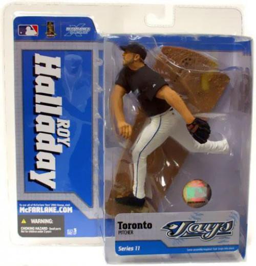McFarlane Toys MLB Toronto Blue Jays Sports Picks Series 11 Roy Halladay Action Figure [Black Jersey]
