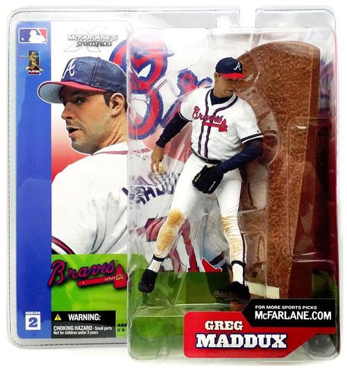 McFarlane Toys MLB Atlanta Braves Sports Picks Series 2 Greg Maddux Action Figure [White Jersey]