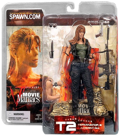 McFarlane Toys Terminator 2 Judgment Day Movie Maniacs Series 5 Sarah Connor Action Figure [Pony Tail, No Hat]