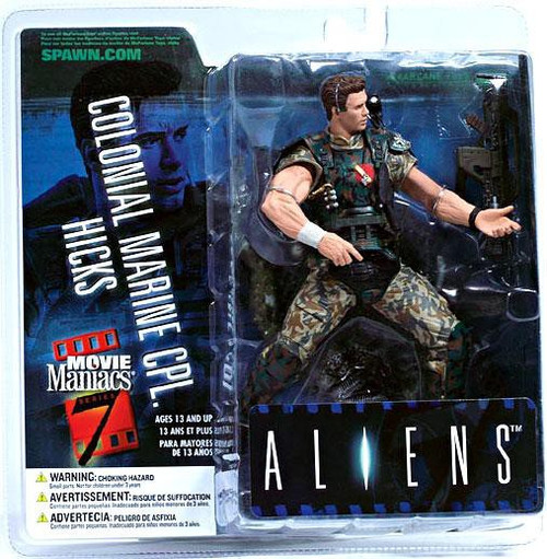 McFarlane Toys Aliens Movie Maniacs Series 7 Colonial Marine CPL. Hicks Action Figure
