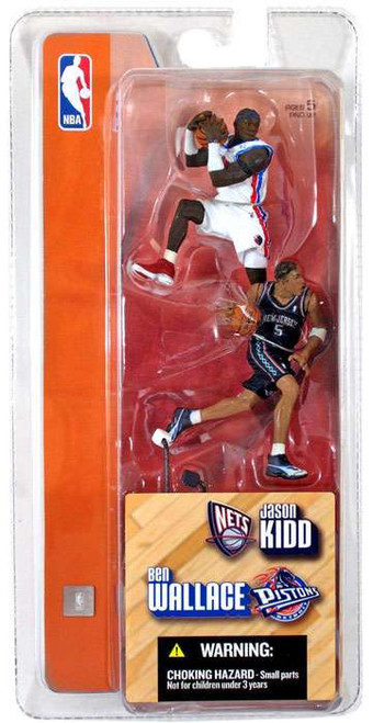 McFarlane Toys NBA Detroit Pistons / New Jersey Nets Sports Picks 3 Inch Mini Series 1 Ben Wallace & Jason Kidd Mini Figure 2-Pack
