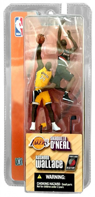 McFarlane Toys NBA Lakers / Trailblazers Sports Picks 3 Inch Mini Series 1 Shaquille O'Neal & Rasheed Wallace Mini Figure 2-Pack