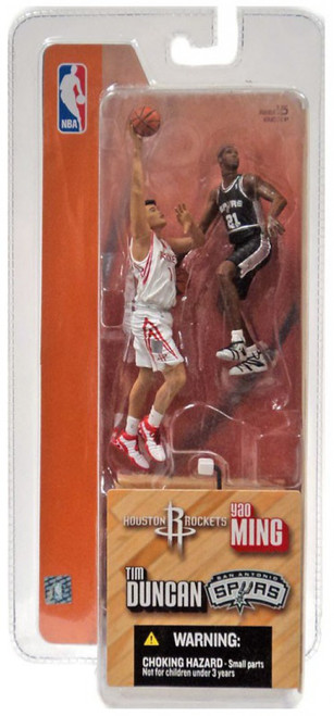 McFarlane Toys NBA Houston Rockets / San Antonio Spurs Sports Picks 3 Inch Mini Series 1 Yao Ming & Tim Duncan Mini Figure 2-Pack