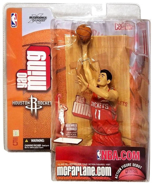 McFarlane Toys NBA Houston Rockets Sports Picks Series 5 Yao Ming Action Figure [Red Jersey Variant]