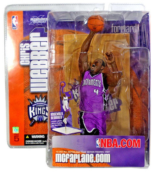 McFarlane Toys NBA Sacramento Kings Sports Picks Series 5 Chris Webber Action Figure [Purple Jersey Variant]