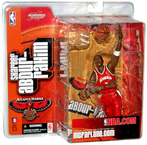 McFarlane Toys NBA Atlanta Hawks Sports Picks Series 5 Shareef Abdur Rahim Action Figure [Red Jersey]