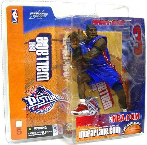 McFarlane Toys NBA Detroit Pistons Sports Picks Series 5 Ben Wallace Action Figure [Blue Jersey Variant]