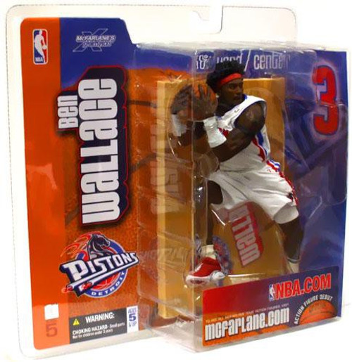 McFarlane Toys NBA Detroit Pistons Sports Picks Series 5 Ben Wallace Action Figure [White Jersey]