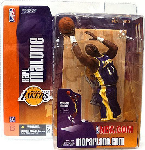 McFarlane Toys NBA Los Angeles Lakers Sports Picks Series 6 Karl Malone Action Figure [Purple Jersey]