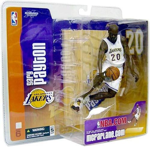 McFarlane Toys NBA Los Angeles Lakers Sports Picks Series 6 Gary Payton Action Figure [White Jersey]