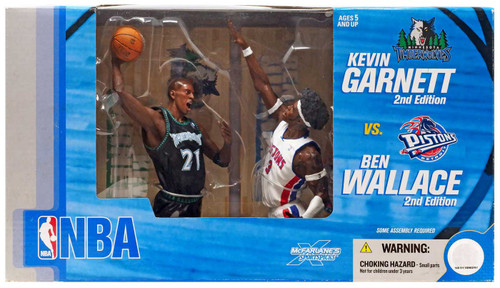 McFarlane Toys NBA Minnesota Timberwolves / Detroit Pistons Sports Picks Kevin Garnett & Ben Wallace Action Figure 2-Pack