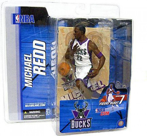 McFarlane Toys NBA Milwaukee Bucks Sports Picks Series 7 Michael Redd Action Figure [White Jersey]