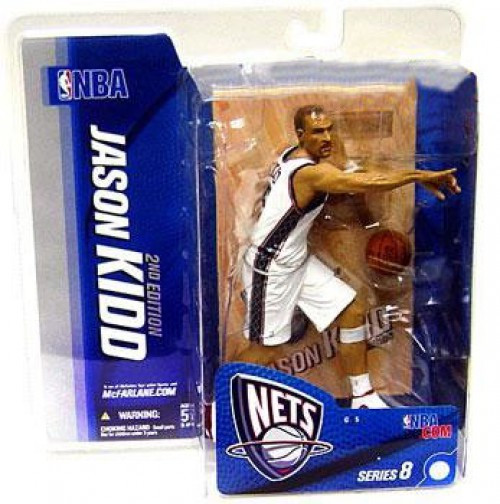 McFarlane Toys NBA New Jersey Nets Sports Picks Series 8 Jason Kidd Action Figure [White Jersey]