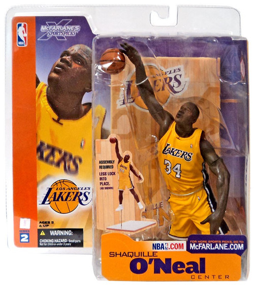 McFarlane Toys NBA Los Angeles Lakers Sports Picks Series 2 Shaquille O'Neal Action Figure [Yellow Jersey]