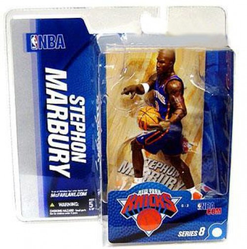 McFarlane Toys NBA New York Knicks Sports Picks Series 8 Stephon Marbury Action Figure [Blue Jersey]