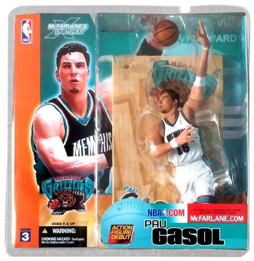 McFarlane Toys NBA Memphis Grizzlies Sports Picks Series 3 Pau Gasol Action Figure [White Jersey Variant]