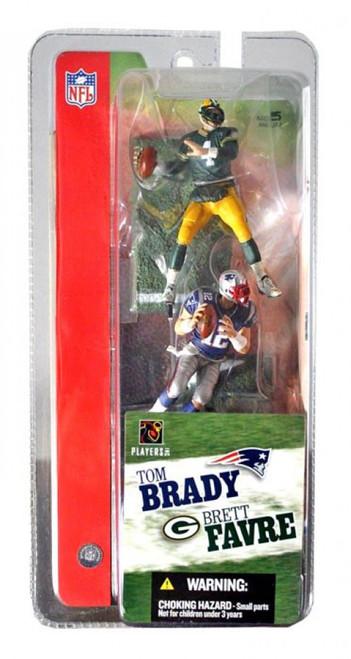 McFarlane Toys NFL Green Bay Packers / New England Patriots Sports Picks 3 Inch Mini Series 1 Brett Favre & Tom Brady Mini Figure 2-Pack