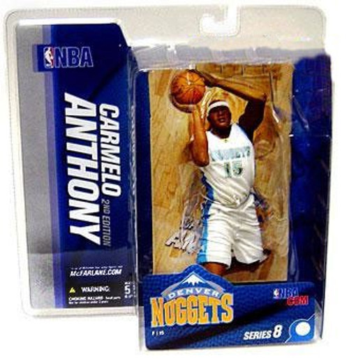 McFarlane Toys NBA Denver Nuggets Sports Picks Series 8 Carmelo Anthony Action Figure [White Jersey]