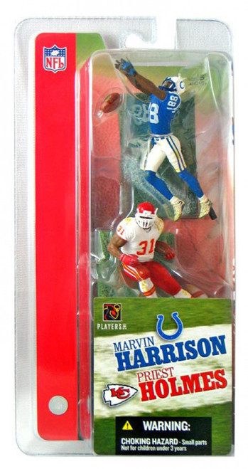 McFarlane Toys NFL Indianapolis Colts / Kansas City Chiefs Sports Picks 3 Inch Mini Series 1 Marvin Harrison & Priest Holmes Mini Figure 2-Pack 2-Pack