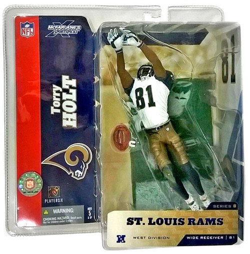 McFarlane Toys NFL St. Louis Rams Sports Picks Series 8 Torry Holt Action Figure #81 [White Jersey #81]