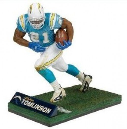 McFarlane Toys NFL San Diego Chargers Sports Picks LaDainian Tomlinson Deluxe Action Figure [Light Blue Jersey]