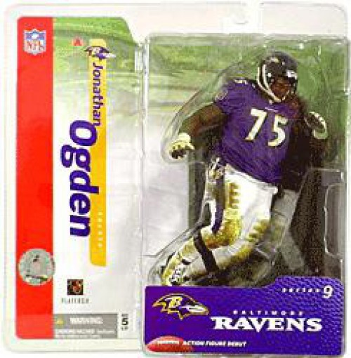 McFarlane Toys NFL Baltimore Ravens Sports Picks Series 9 Jonathan Ogden Action Figure [Purple Jersey]
