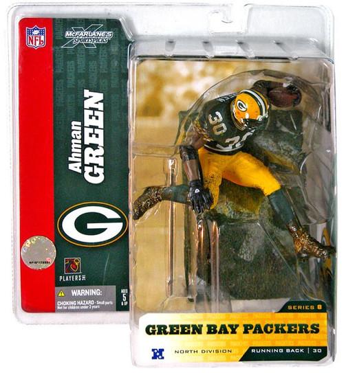 McFarlane Toys NFL Green Bay Packers Sports Picks Series 8 Ahman Green Action Figure [Green Jersey]