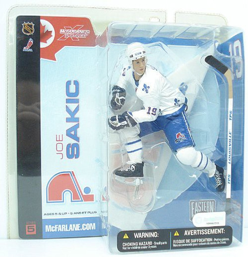 McFarlane Toys NHL Quebec Nordiques Sports Picks Series 5 Joe Sakic Action Figure [White Jersey Variant]