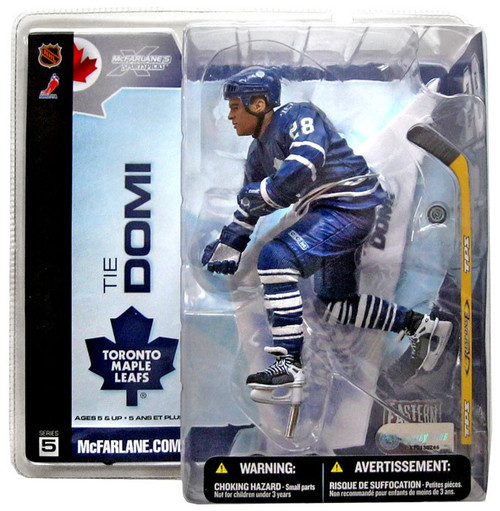 McFarlane Toys NHL Toronto Maple Leafs Sports Picks Series 5 Tie Domi Action Figure [Blue Jersey Variant]