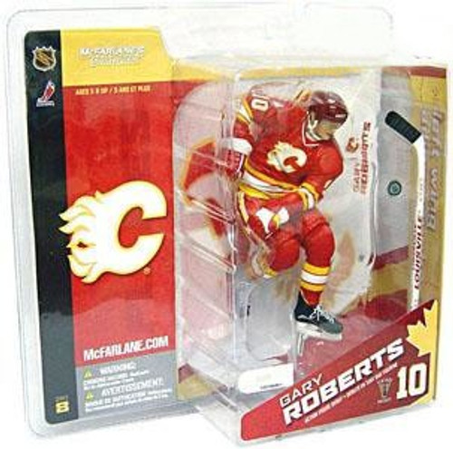 McFarlane Toys NHL Calgary Flames Sports Picks Series 8 Gary Roberts Exclusive Action Figure [Red Jersey Variant]