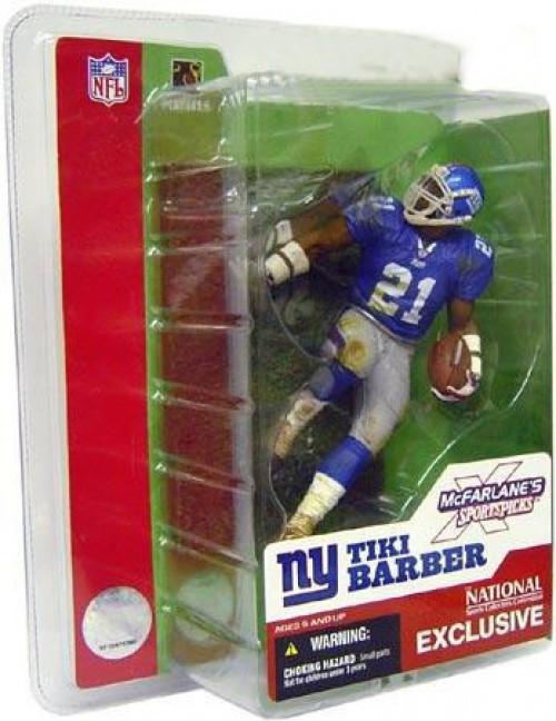 McFarlane Toys NFL New York Giants Sports Picks 2003 National Tiki Barber Exclusive Action Figure