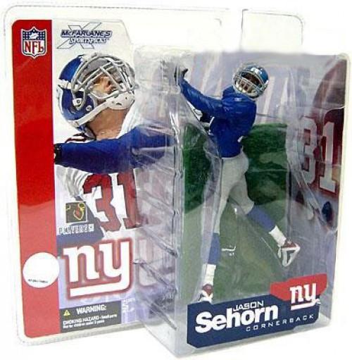 McFarlane Toys NFL New York Giants Sports Picks Series 4 Jason Sehorn Action Figure [Blue Jersey Variant]