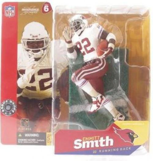 McFarlane Toys NFL Arizona Cardinals Sports Picks Series 6 Emmitt Smith Action Figure [White Jersey Red Gloves]