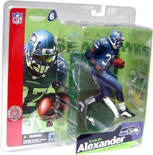 McFarlane Toys NFL Seattle Seahawks Sports Picks Series 6 Shaun Alexander Action Figure [Blue Jersey Blue Pants]