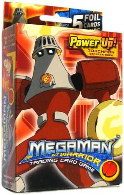 MegaMan NT Warrior Trading Card Game Power Up! Torchman Starter Deck