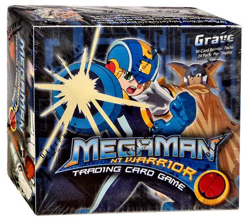 MegaMan NT Warrior Trading Card Game Grave Booster Box [24 Packs]