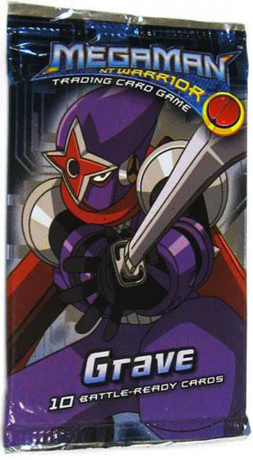 MegaMan NT Warrior Trading Card Game Grave Booster Pack [10 Cards]