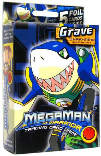 MegaMan NT Warrior Trading Card Game Grave Sharkman Starter Deck