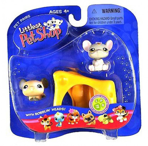 Littlest Pet Shop Pet Pairs Mouse & Rat Figure 2-Pack [With Cheese]