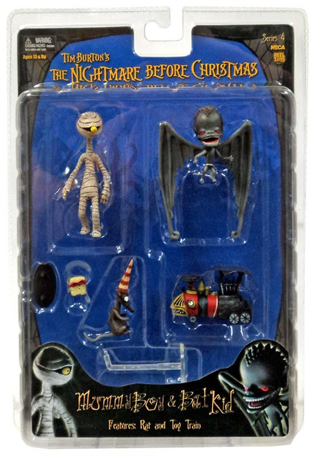 NECA Nightmare Before Christmas Series 4 Mummy Boy & Bat Kid Action Figure Set