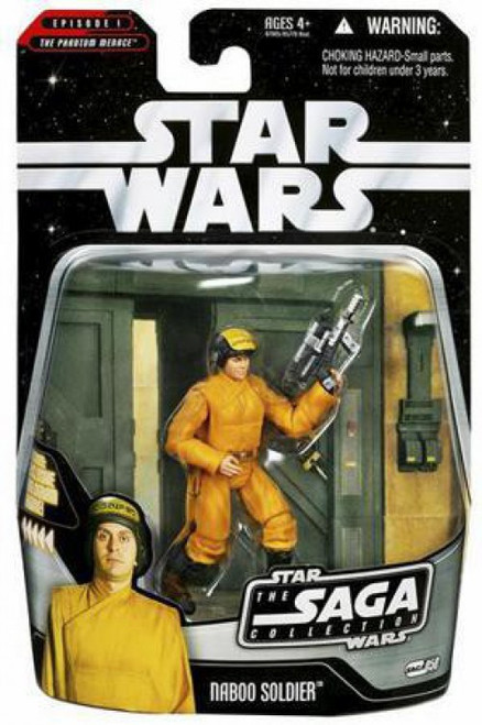 Star Wars Phantom Menace 2006 Saga Collection Naboo Soldier Action Figure #50