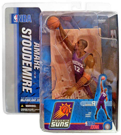 McFarlane Toys NBA Phoenix Suns Sports Picks Series 9 Amare Stoudemire Action Figure [Purple Jersey]