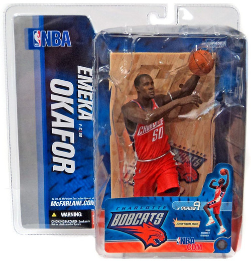 McFarlane Toys NBA Charlotte Bobcats Sports Picks Series 9 Emeka Okafor Action Figure [Orange Jersey]