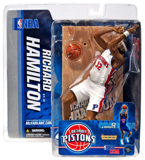 McFarlane Toys NBA Detroit Pistons Sports Picks Series 9 Richard Hamilton Action Figure [White Jersey Variant]