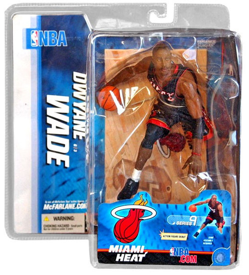 McFarlane Toys NBA Miami Heat Sports Picks Series 9 Dwyane Wade Action Figure [Black Jersey]