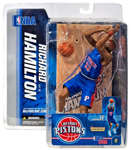 McFarlane Toys NBA Detroit Pistons Sports Picks Series 9 Richard Hamilton Action Figure [Blue Jersey]