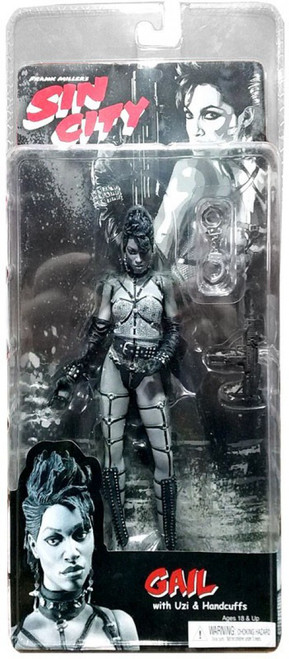 NECA Sin City Series 1 Gail Action Figure [Black & White]