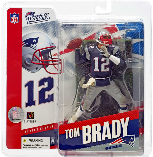 McFarlane Toys NFL New England Patriots Sports Picks Series 11 Tom Brady Action Figure [Blue Jersey]